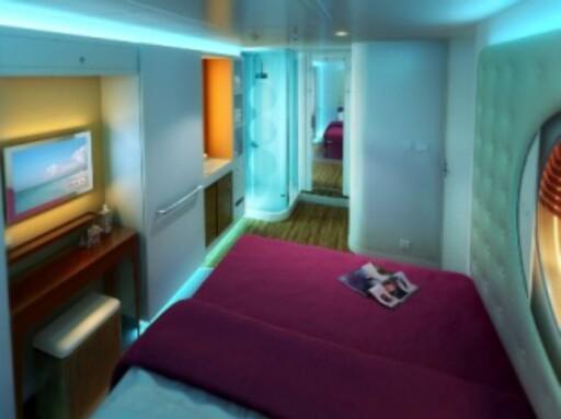 Slik ser studio staterooms ut på Epic. Foto: Norwegian Cruise Line