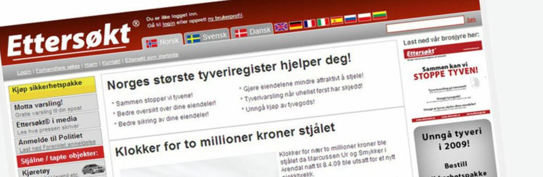 Denne nettsiden får  ros og ekstra midler. Foto: www.ettersokt.no