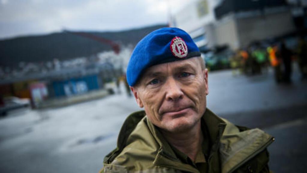 HØY STANDARD: Brigader Odin Johannessen mener en høy treningsstandard er nødvendig for å kunne reagere hurtig. Foto: Håkon Eikesdal