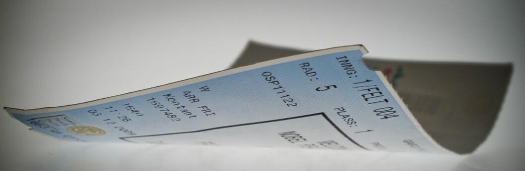 <strong><B>SVARTEBØRS:</strong></B> I Norge er det ulovlig å videreselge billetter til mer enn pålydende pris. Men du får ikke noen straff for å gjøre det. Foto: Per Ervland