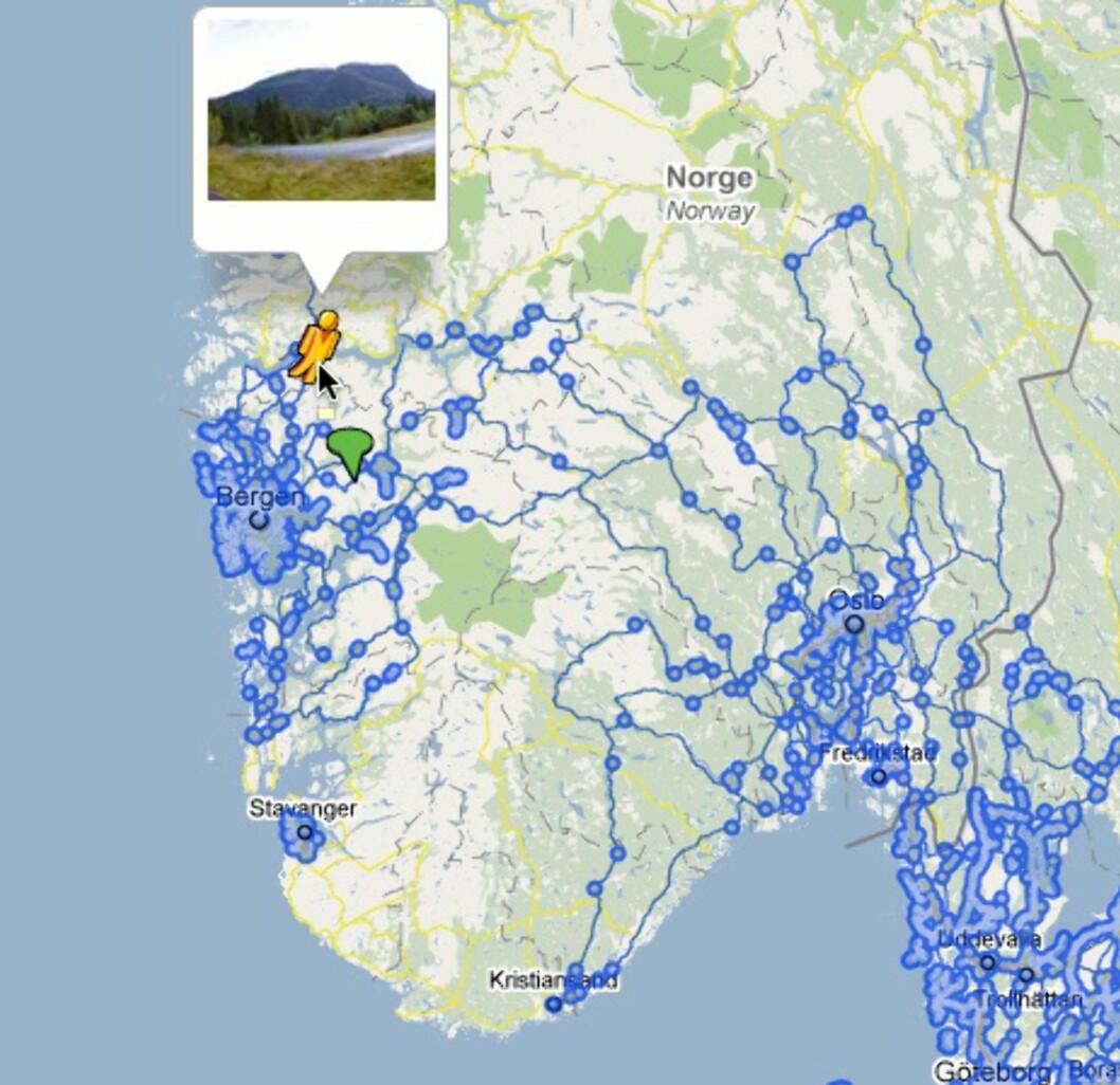 Google Street View er lansert i Norge