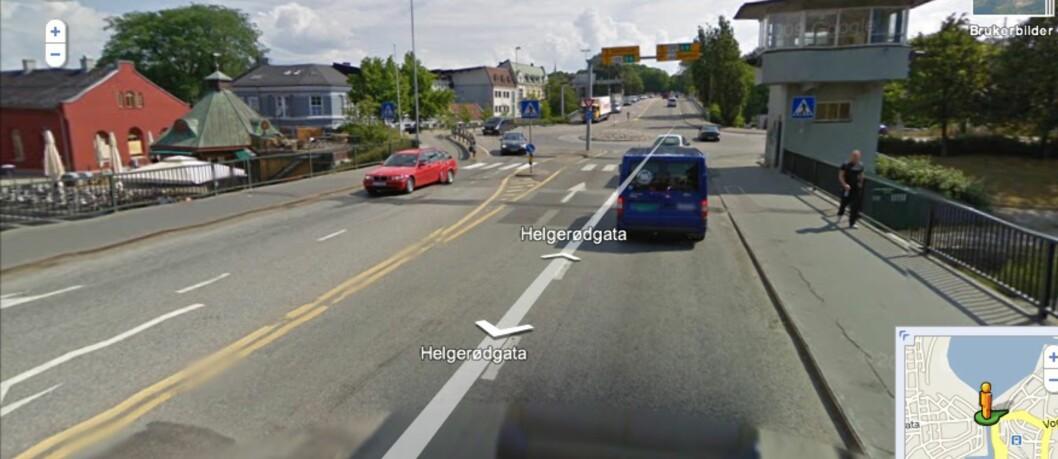 Deler av Norge er nå knipset av Google-bilen. Her er kanalbrua i Moss.