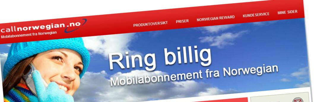 <strong><b>SJEKK PRISEN:</strong></b> Ikke så dyrt, men langt fra billigst i markedet. (Faksimile: callnorwegian.no)