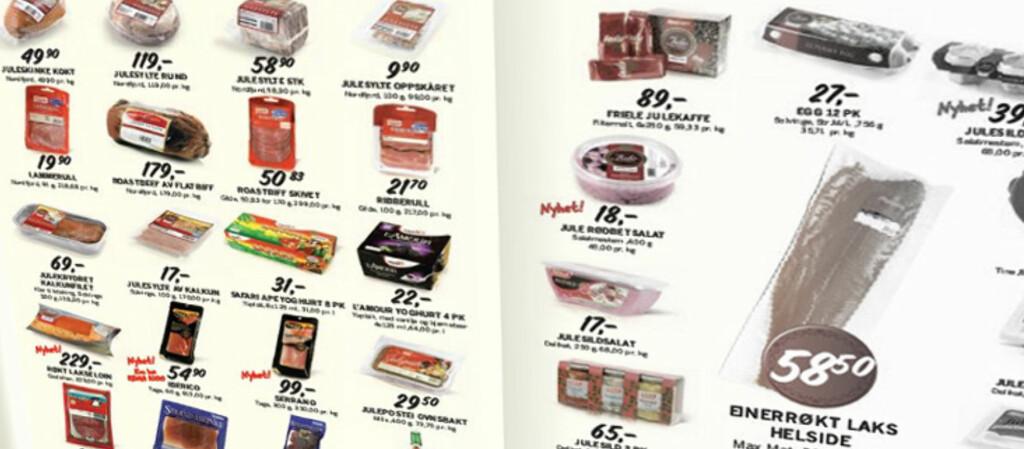 <B>BILLIGSTE HANDLEKURV:</b> Rema 1000 er som regel billigst i DinSides matpristester. Foto: Rema 1000s kampanjeavis
