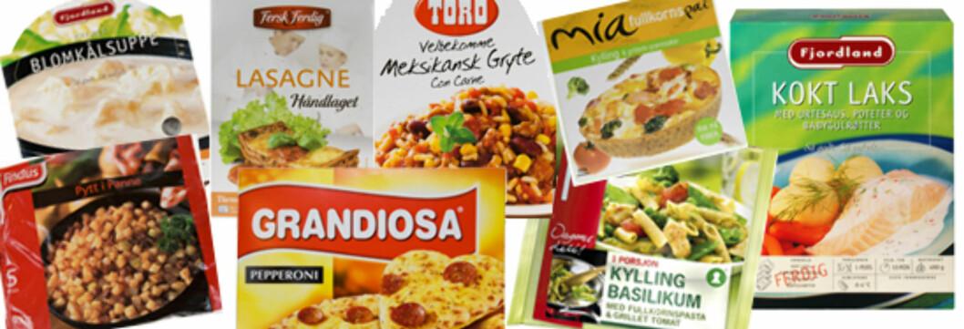 <strong>DINSIDE TESTER:</strong> Hvilke av disse middagene er sunnest tror du? Eksperten har gitt to terningkast 5. Foto: Per Ervland