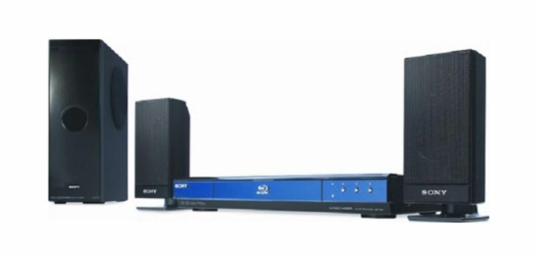 Sony BDVFS350EC1FI rimelig Blu-ray kvasi-surroundanlegg Foto: Produsenten
