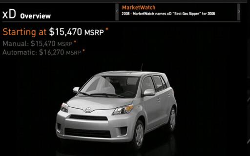 I USA selges Toyota Urban Cruiser under navnet Scion xD. Foto: Toyota