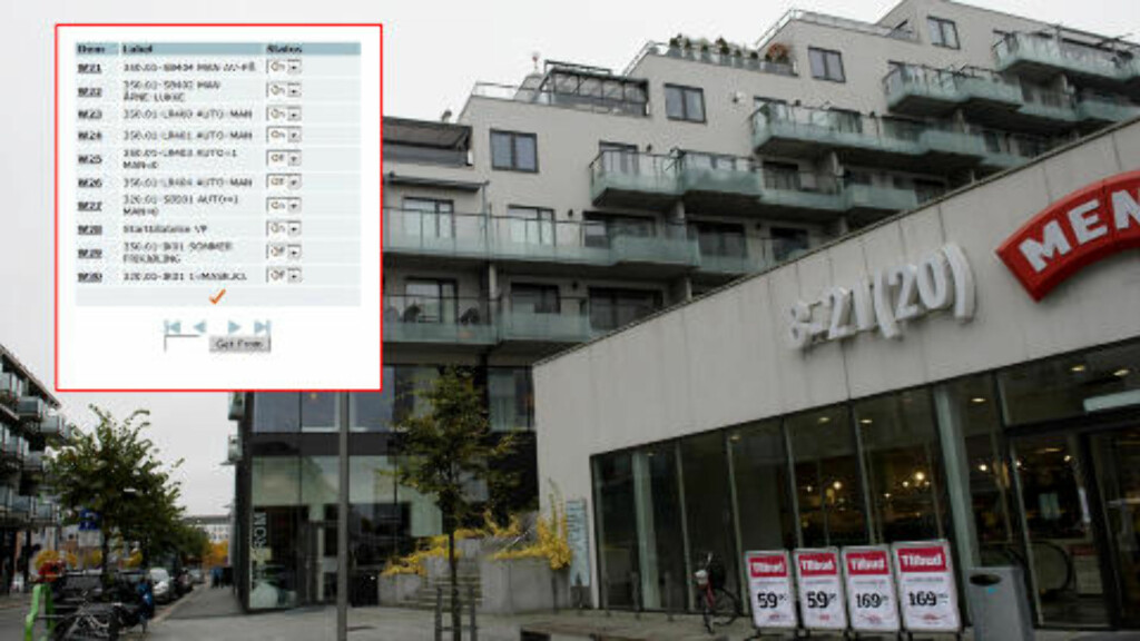HOT OR COLD?: Dagbladet was able to control the heating in a whole block of apartment buildings here in the city Drammen.