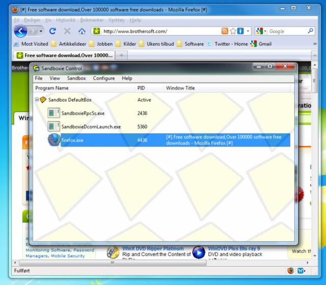 Sikkerhet: Sandboxie gjør usikre programmer sikre - DinSide