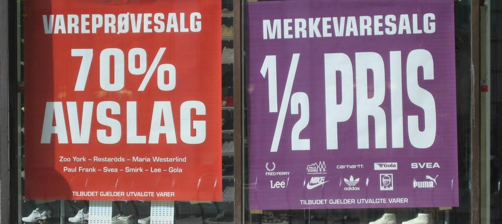 Det utenlandske fenomenet med store lagerutsalg begynner å bre om seg også i Norge. Foto: DinSide