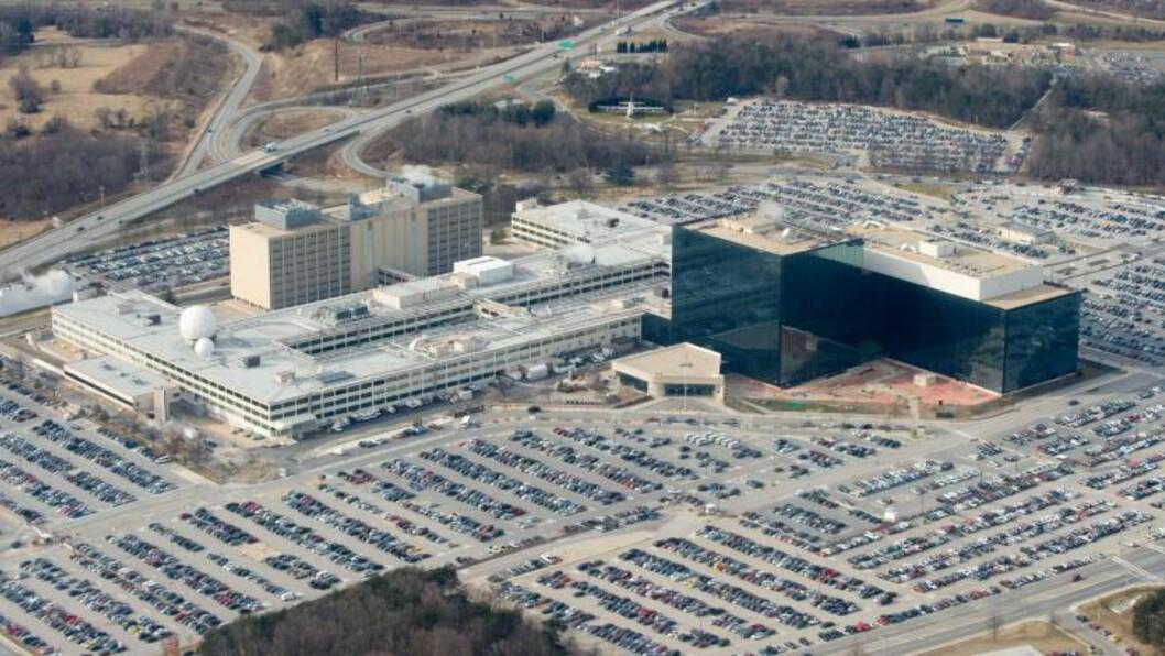 40 000 ANSATTE: NSAs enorme hovedkvarter i Fort Meade i Maryland huser noe av den mest avanserte overvåkningsteknologien i verden. Foto: SAUL LOEB / AFP / NTB SCANPIX
