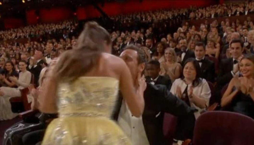 Alicia Vikander og Michael Fassbender klinte til under Oscar-utdelinga