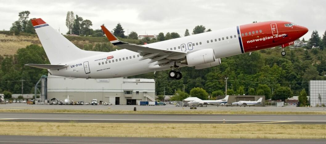 Det er på denne flytypen Norwegian vil tilby sine kunder bredbånd. Foto: Norwegian