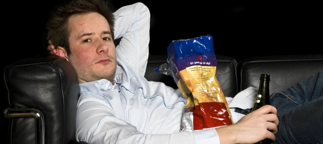 Bare 100 ekstra kalorier om dagen fører til en årlig vektøkning på fem kilo. Foto: Colourbox.com