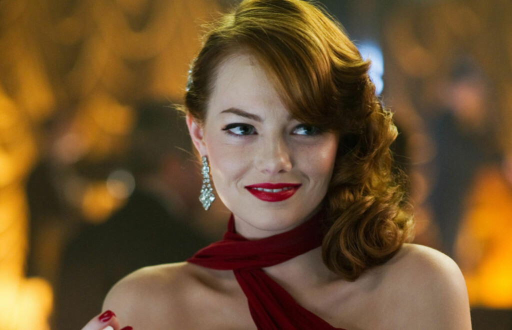 GULL VERDT: Emma Stone er den skuespilleren i Hollywood som drar inn med billettinntekter per dollar hun får i lønn. Foto: AP Photo/Warner Bros. Pictures, Wilson Webb