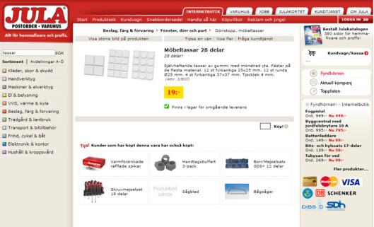 <strong>19 kr:</strong> Hos Jula får du et tilsvarende produkt, pluss 8 bonus-knotter, for 19 kroner.