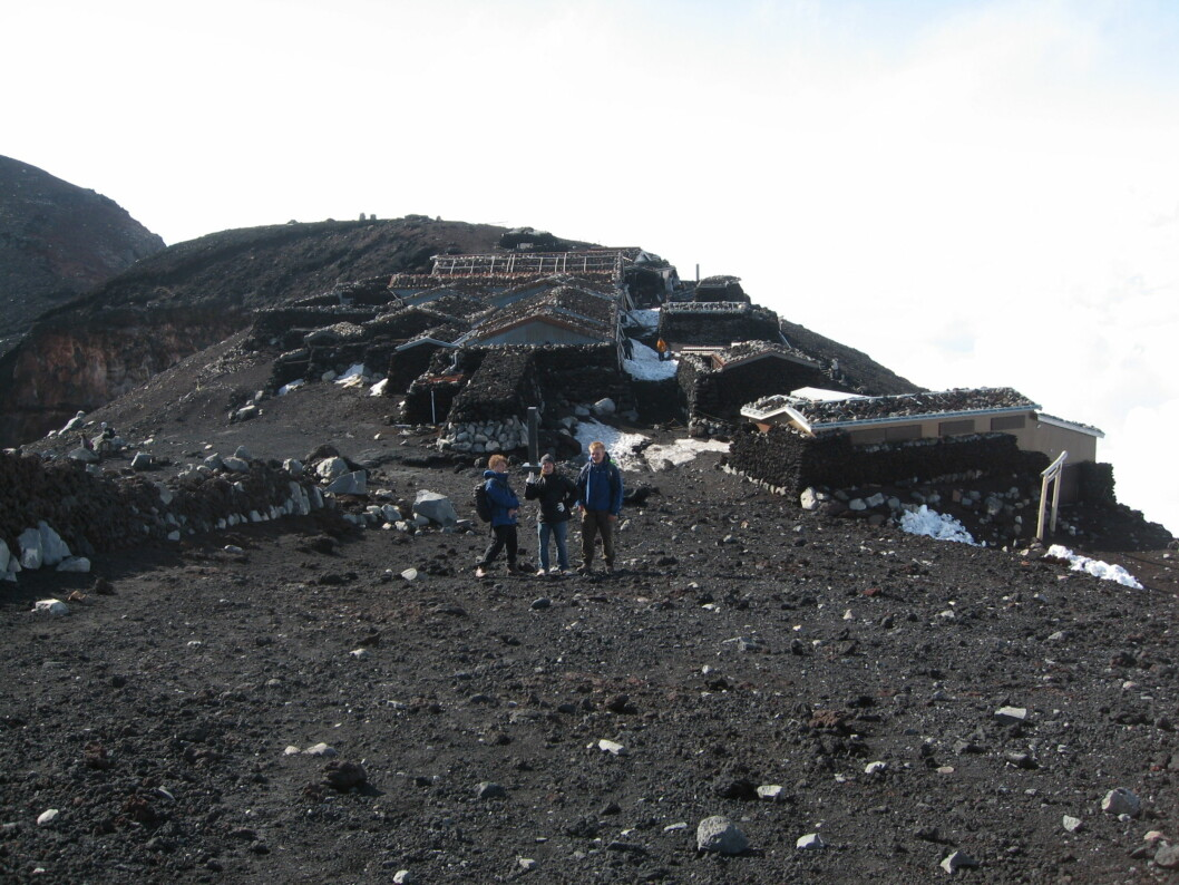 <strong><b>Svart hav:</strong> </b>Det er ikke mye vegetasjon på vulkanen, men mange planter gror nok ikke på 3.200 meter uansett.