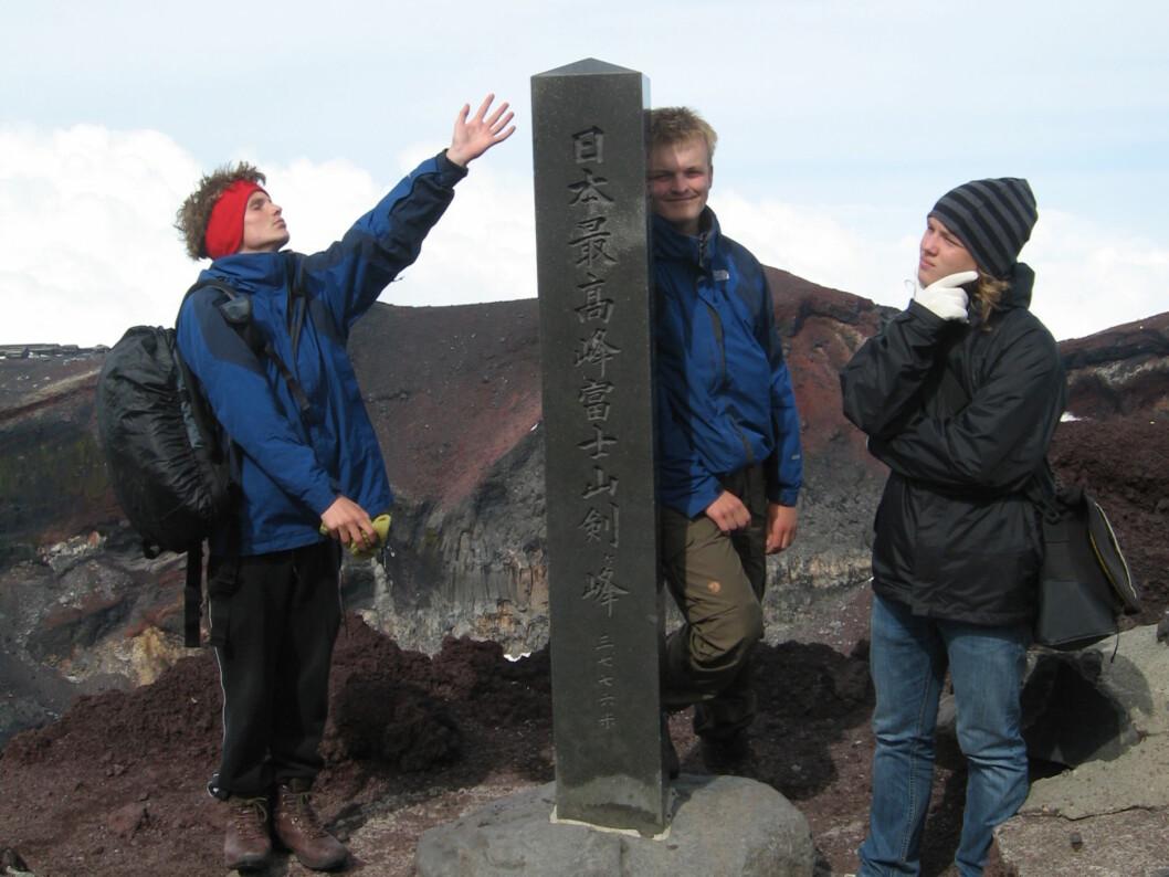 <b>3776 m.o.h. </B> Det høyeste punktet i Japan.