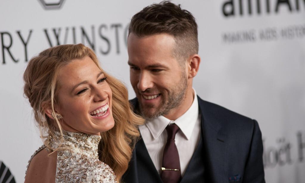 BERØMT PAR: Hollywood-skuespillerne Blake Lively (29) og Ryan Reynolds har vært et par siden 2011. Foto: Ivan Nikolov / WENN / NTB Scanpix