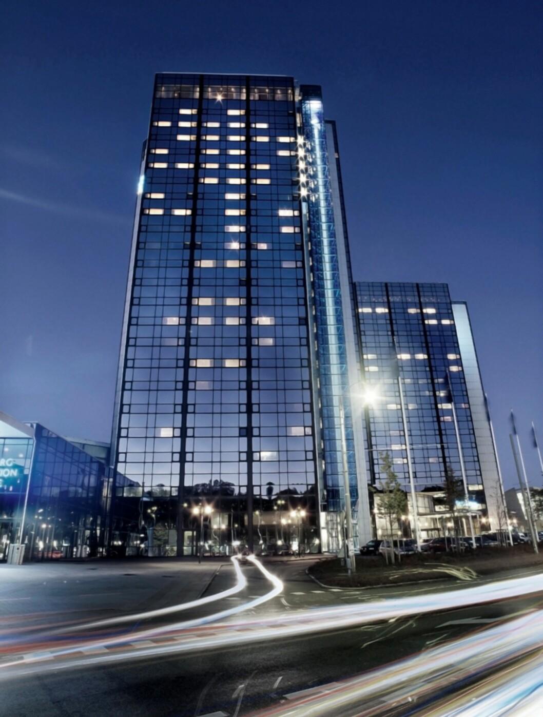Gothia Towers er imponerende - sett utenfra.  Foto: Gothia Towers