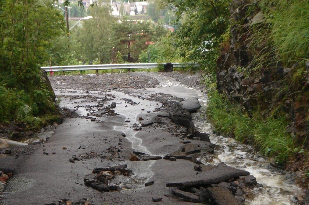 Ikke greit å kjøre eller gå her... Foto: Øyvind Paulsen