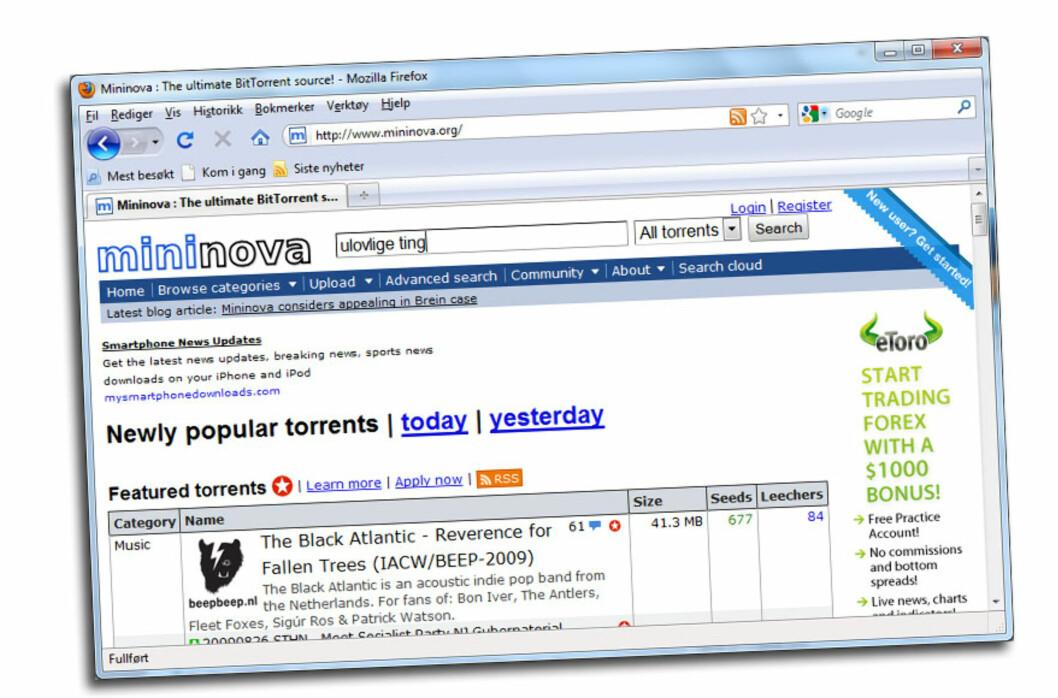 Mininova får frist på å fjerne ulovlige torrents