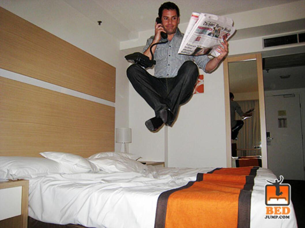 En skikkelig multi-tasker, dette. Foto: www.bedjump.com