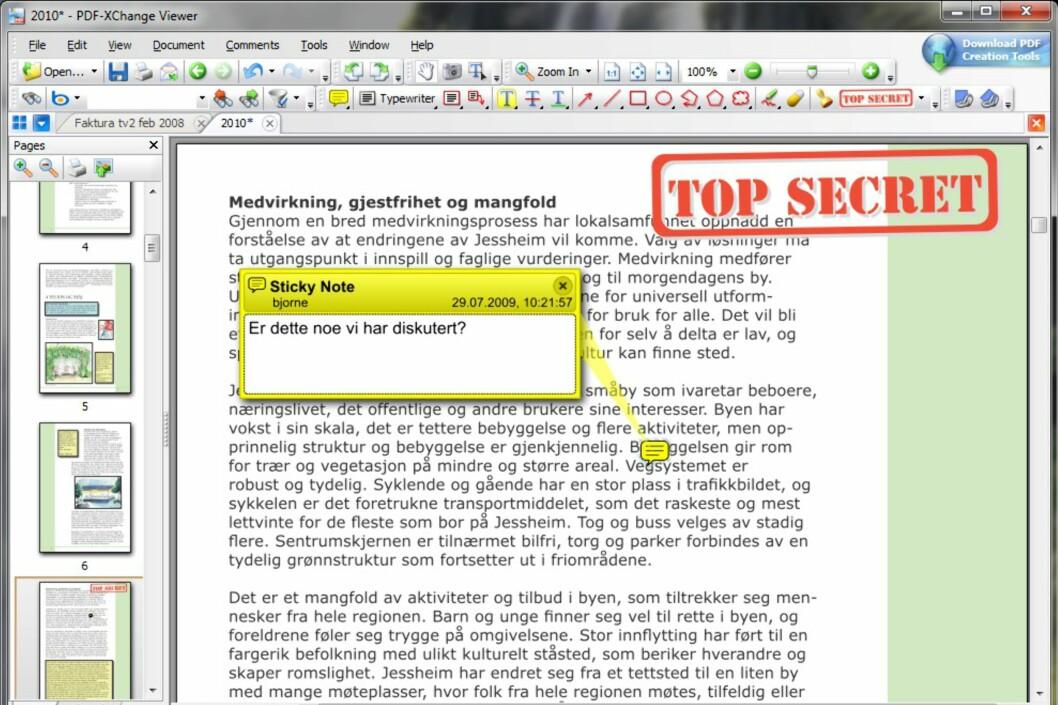 PDF-XChange viewer - glimrende PDF-leser
