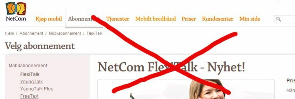 <B>Kan forsvinne: </B>Abonnementer som Netcoms FlexiTalk kan forsvinne, om Forbrukerombudet får det som de vil.