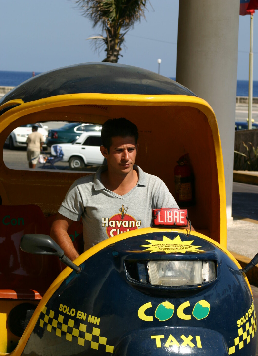 Coco-taxi - bråkete, men moro. Foto: Tove Andersson