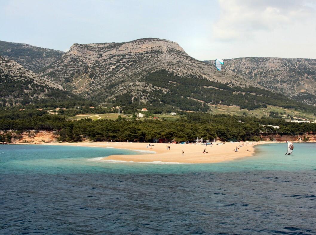 Zlatni Rat på Braĉ er en av Middelhavets mest kjente strender. Foto: Stine Okkelmo