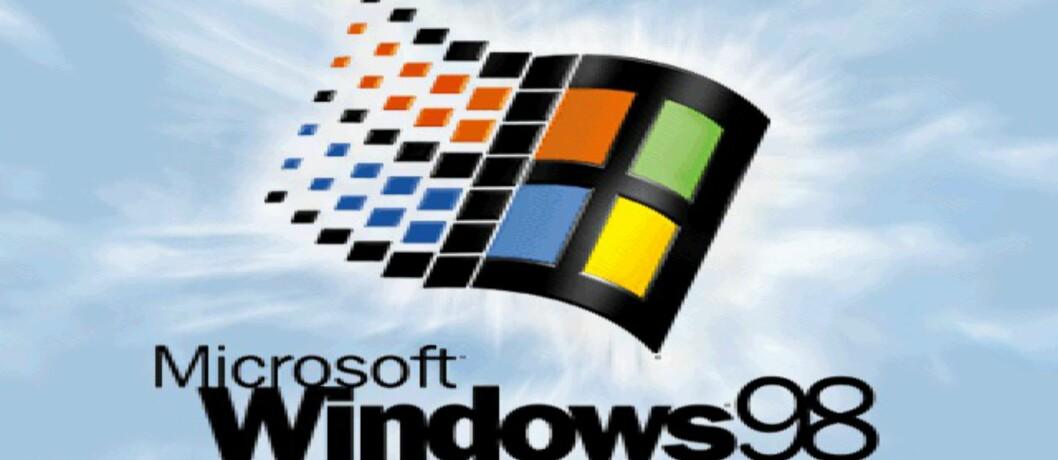Windows 98 starter på 15 sekunder