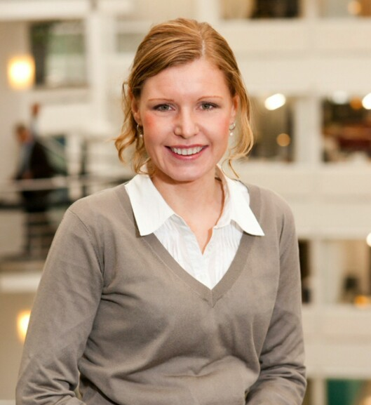 - Nordmenn er langt mer ivrige til å spare enn før, sier Christine Warloe i Nordea.  Foto: Nordea