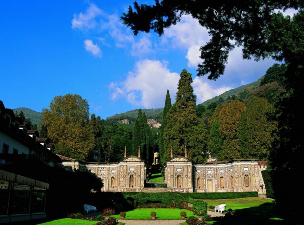 Parkanlegget rundt det gamle palasset er også i en klasse for seg. Foto: Villa D'Este