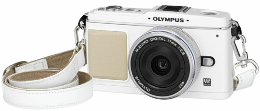 Kameraet er tilgjengelig i krom og hvitt (bildet), mens objektivene er i tilgjengelige i krom og sort.