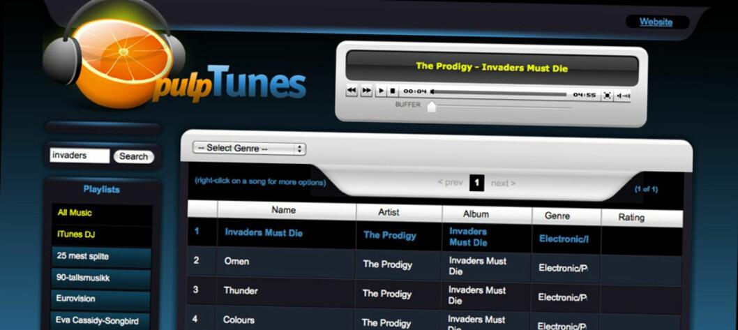 PulpTunes - hør musikken din overalt