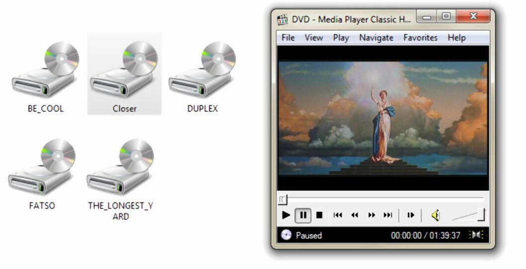 WinCDEmu - DVD med et klikk