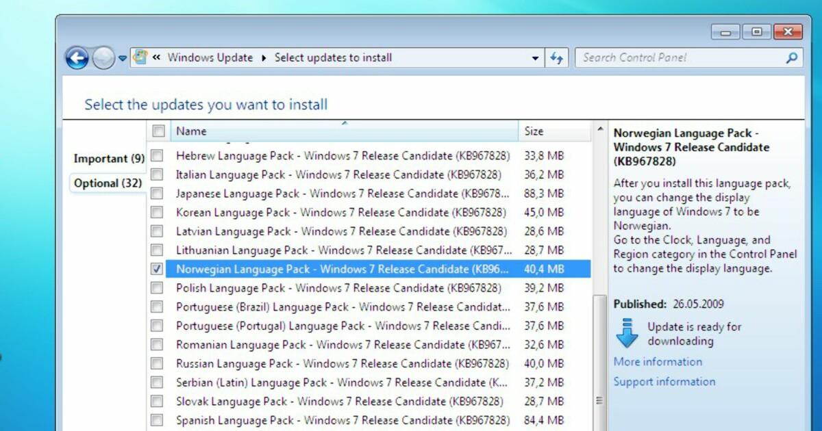 Norsk Windows 7 til alle - DinSide
