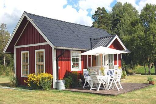 30 kvadratmeter med båtplass i Töftedal: 391.000 kroner Foto: Fastighetsbyrån