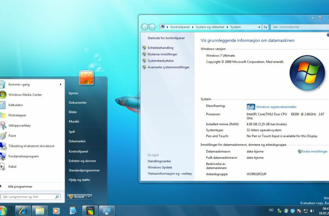Se - Windows 7 på norsk!