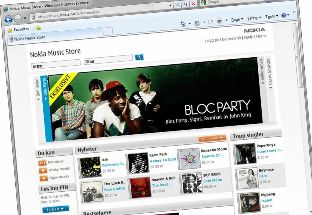 Ny musikkbutikk med 5 millioner låter