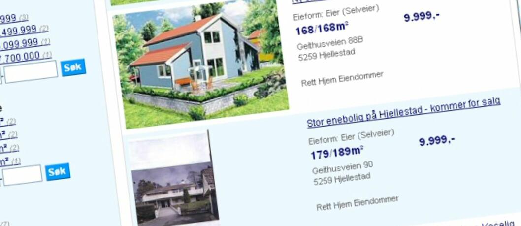 <strong>Hvor vanskelig er det å sette en pris på boligen, slik at kjøpere kan få god oversikt i markedet?  Foto:</strong> Finn.no