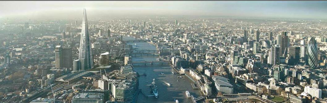 The Shard of Glass er navnet på bygningen som nå reiser seg høyest over London og Europa. Foto: Sellar Property Group