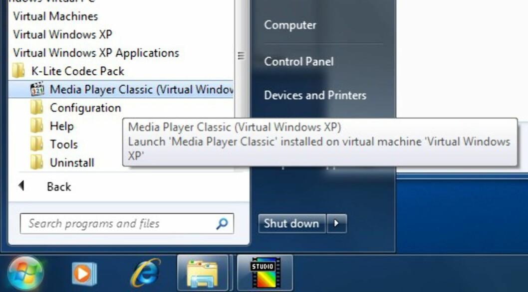 TEST: XP-modus i Windows 7