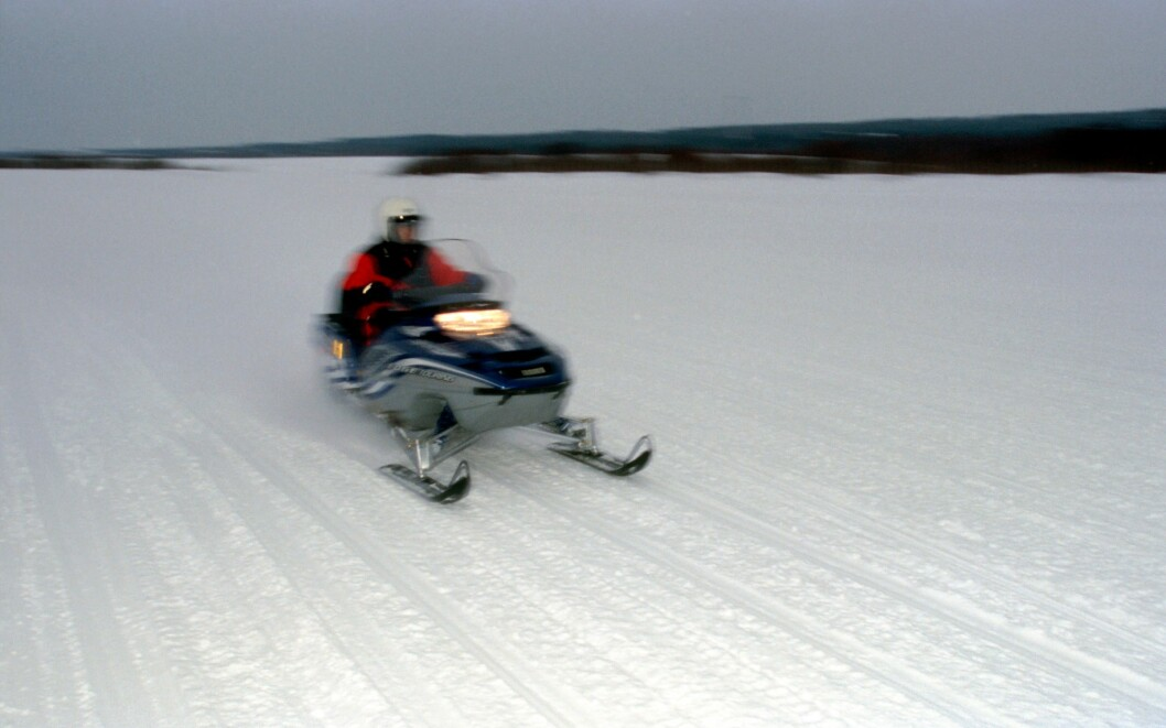 Winter entertainment. Snowmobile driving. Foto: Russian Look/colourbox.com