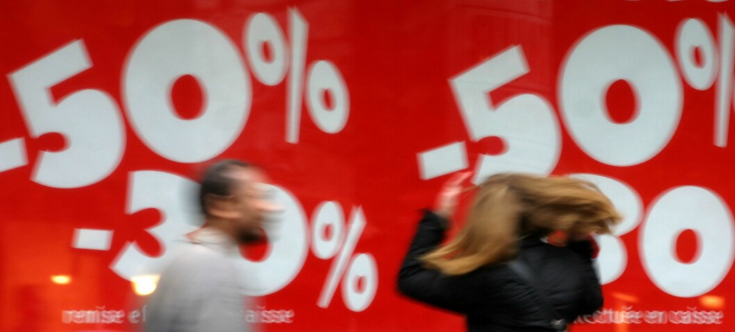 De fleste store butikkjedene i London har satt igang drastiske priskutt for å lokke flere kunder før jul. Illustrasjonsfoto: Colourbox