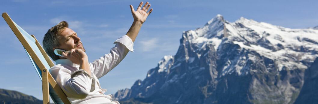 Frisk luft hjelper på humøret dersom jobbfredagen føles tung og lang. Foto: Colourbox.com