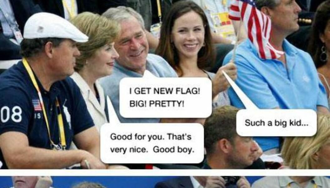 Bill Gates møter president Bush