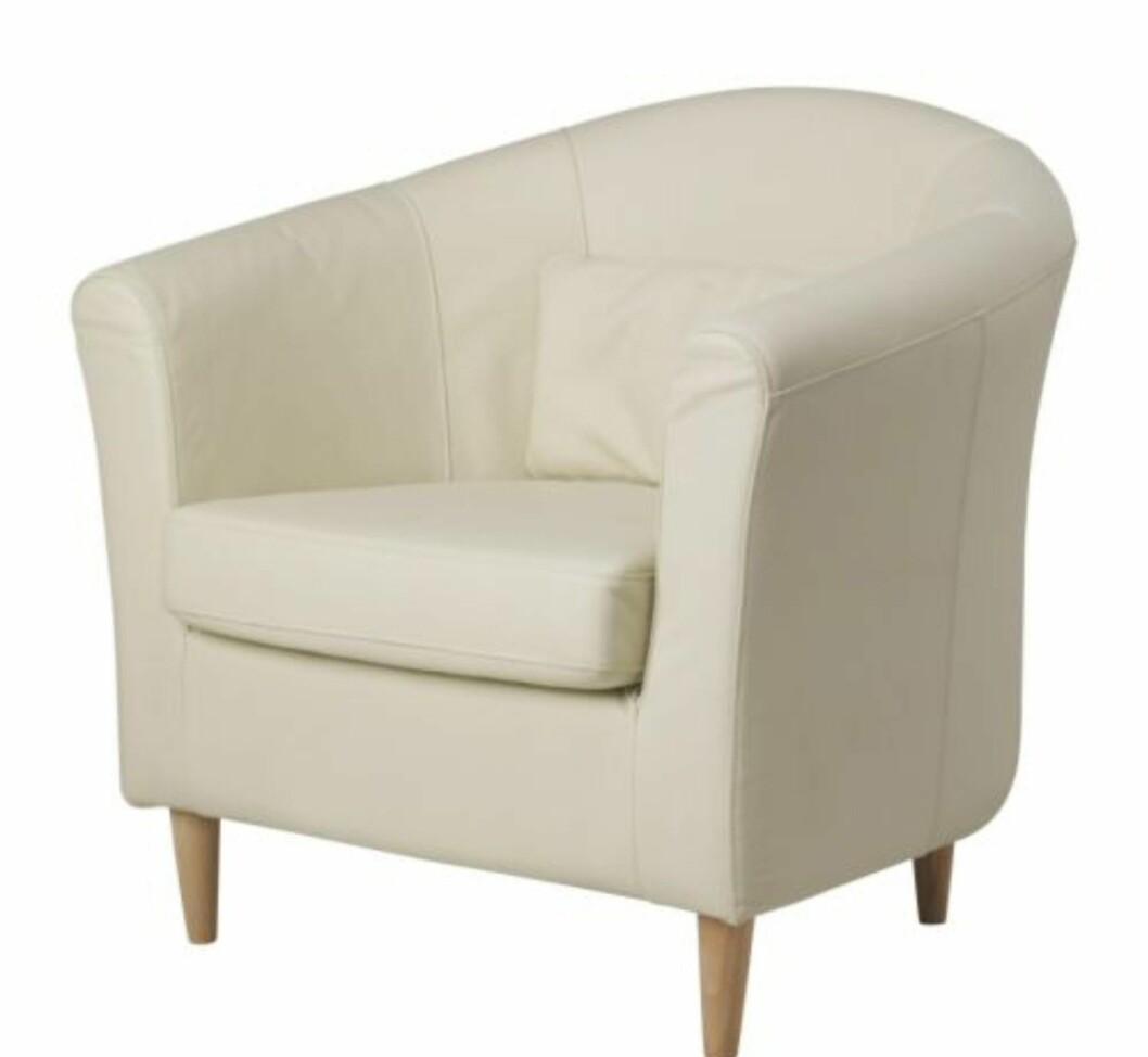 """Tullsta-stolen, i """"rå"""" versjon. Foto: Ikea"""