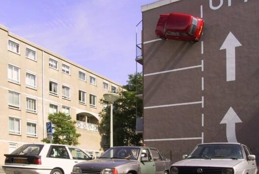 """<strong>Foto:</strong> """"Ekstrem parkering"""" av Theo Van Laar. Foto: Hahan.nu"""